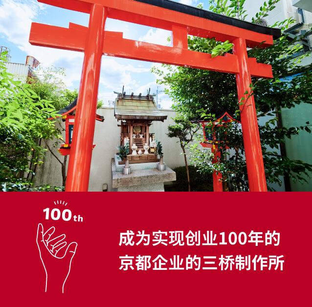 成为实现创业100年的<br>京都企业的三桥制作所