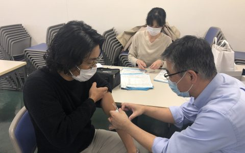 社内インフルエンザ予防接種実施 2020