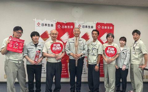 三橋製作所にオリンピック聖火リレートーチがやってきた!